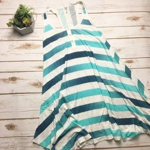 Splendid | blue and white striped trapeze dress